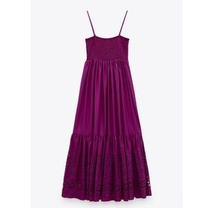 Openwork Embroidered Dress Size XS NWT